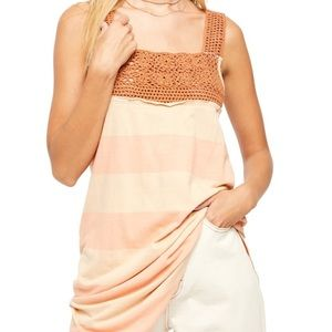 Free People Crochet Top Tunic XS NEW